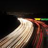 405 freeway at night facing north. Los Angeles, California
