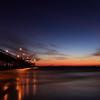 Newport beach pier after the sunset