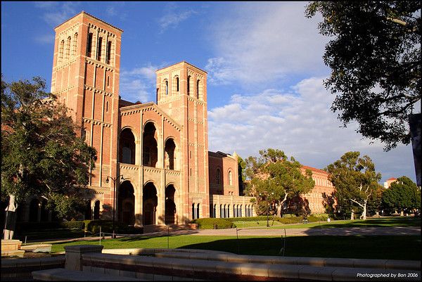 University, Los Angeles, UCLA, old building, westwood, royce hall, school