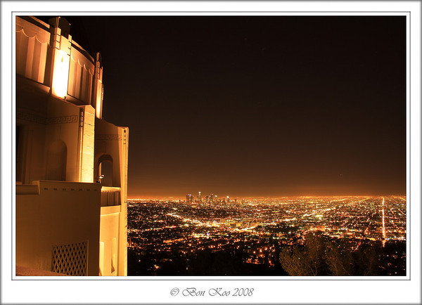 Night scene of Downtown LA from Griffith Observatory.