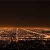 Night scene of LA from Griffith Park.