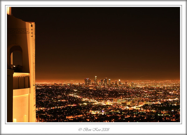 Night scene of Downtown LA from Griffith Park.