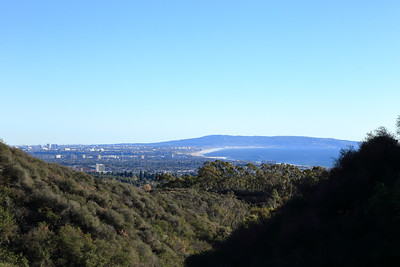 A view of Santa Monica and the beach from Inspiration point, pacific Palisade.