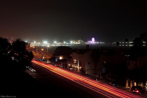 Pacific Coast highway & Santa monica Pier