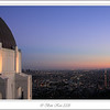 Sunset in Los Angeles from Griffith Observatory.