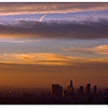 The First of sunrise of 2008 in Los Angeles downtown.