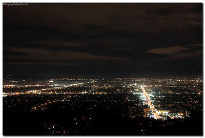A view of the valley area from Mulholland drive.