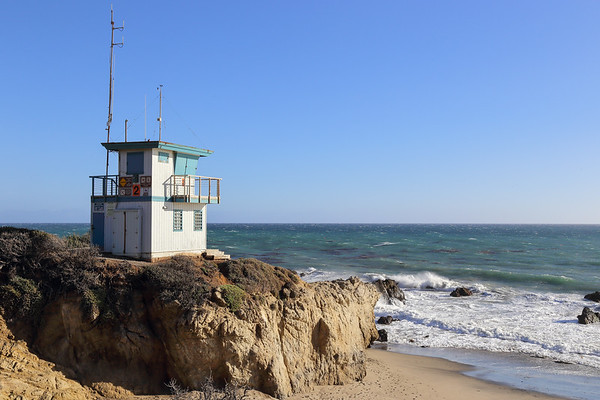 Lifeguard station at the beach