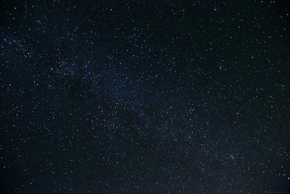 Night sky from Ojai , CA