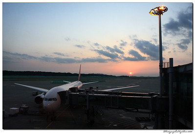 Just before leaving Korea