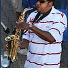 A street performer in San Francisco pier