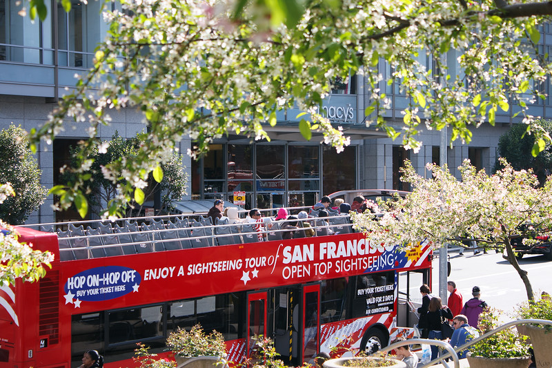 Tour bus in San Francisco