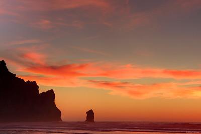 Sunset at  Morro bay