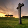 Woodland Cross Sunset