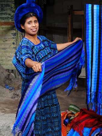 Pana woman selling scarves