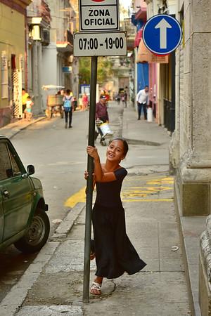 Girl Dancing around Pole