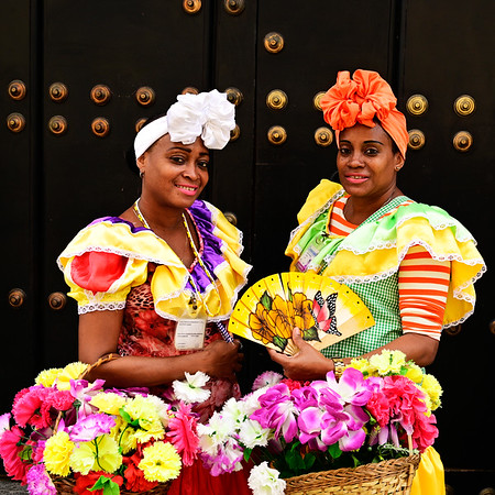 Cuban women dressed up