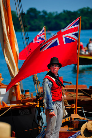 British flags and boats