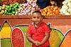 Fruit Stand and Boy