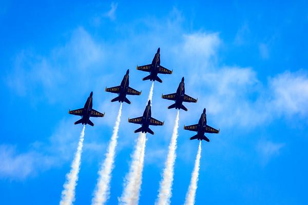 Blue Angels Delta Formation