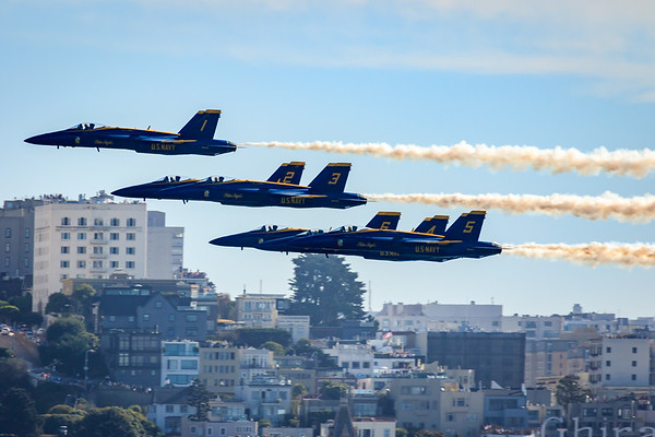 Blue Angels Delta Formation Goodbye to SF for 2017