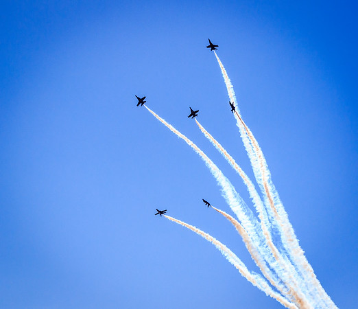 Blue Angels Vertical Exit of the Delta Formation