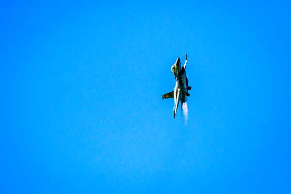 F16 Fighting Falcon Approaching on Afterburners