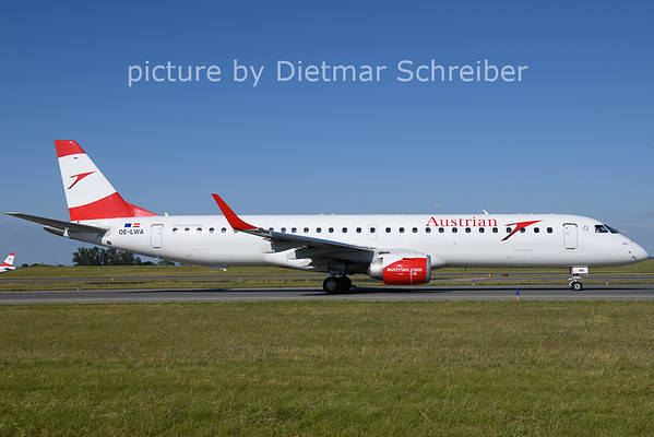 2021-06-13 OE-LWA Embraer 195 Austrian AIrlines
