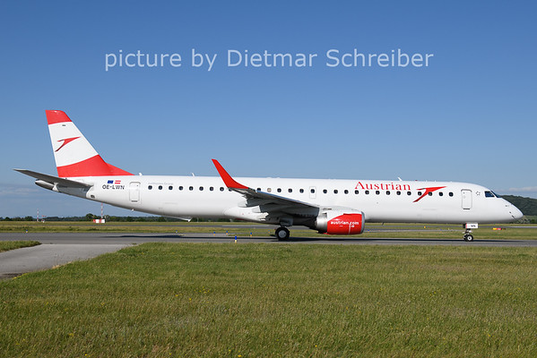 2021-06-13 OE-LWN Embraer 195 Austrian AIrlines