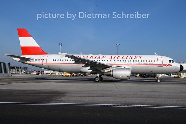 2018-11-29 OE-LBP Airbus A320 AUstrian airlines