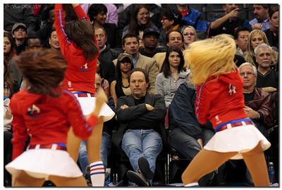 Billy Crystal at Clippers game