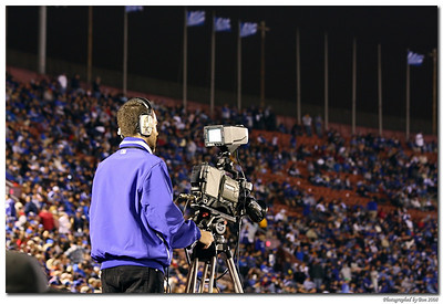 A camera man at the game