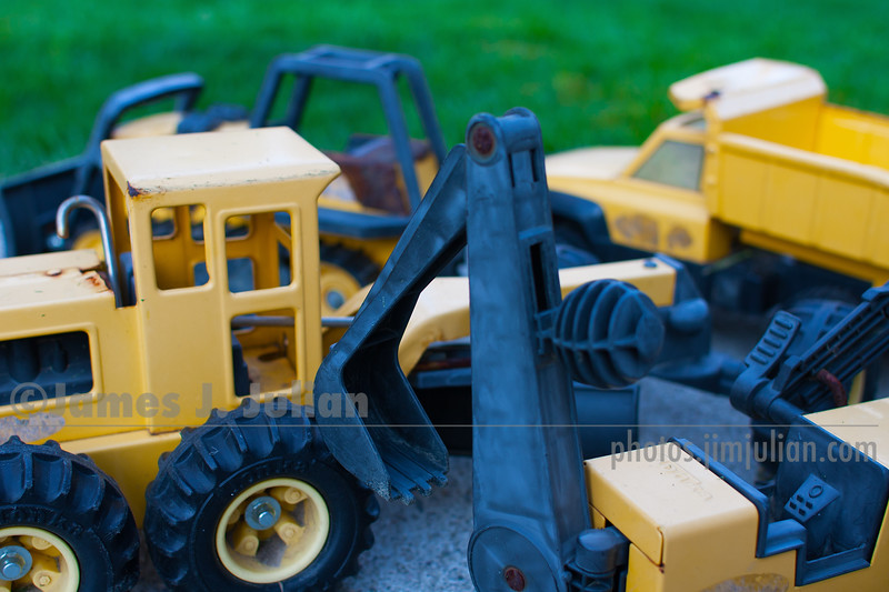 Well-Used Toy Trucks 1