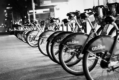 Bicycles for Rent NYC FE BW