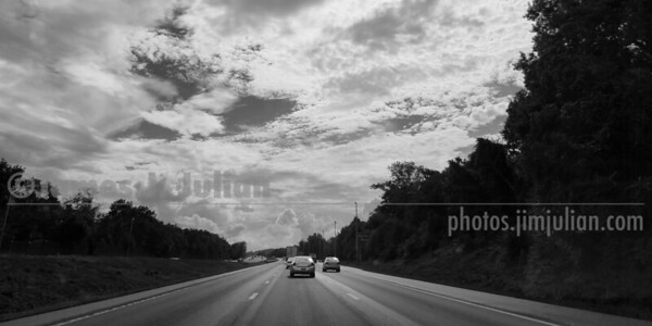 Windshield View BW