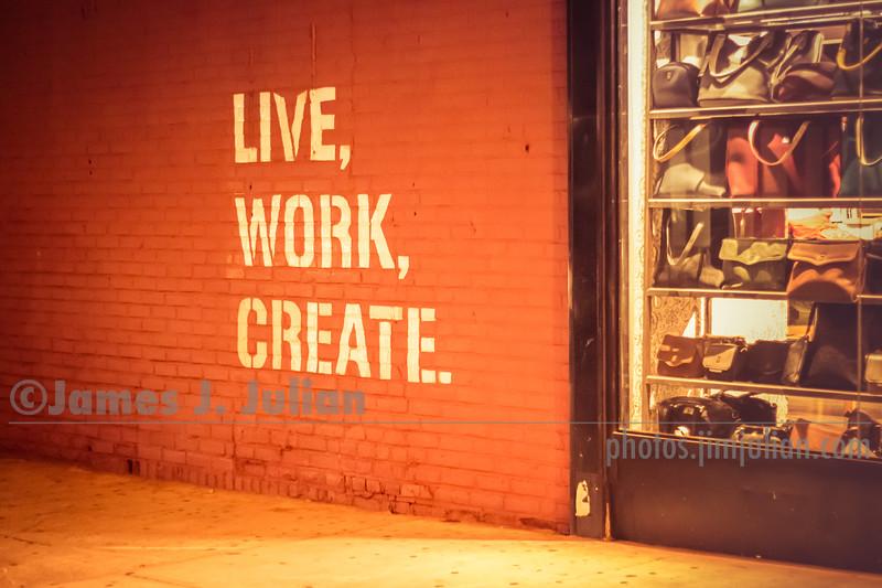 Live Work Create NYC Glow
