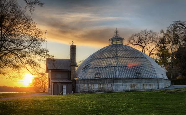 Victoria Greenhouse Sunset