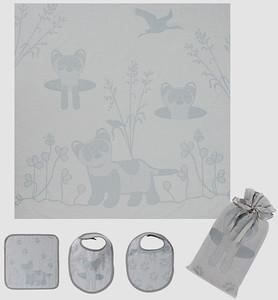 Swaddle, Bib and Face Washer Gift Set
