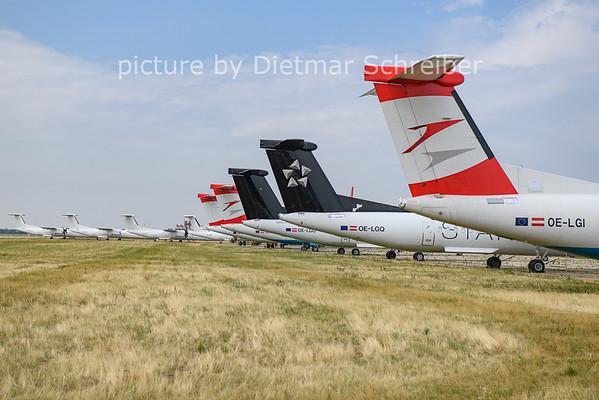 2021-07-20 OE-LGI Dash 8-400 Austrian Airlines