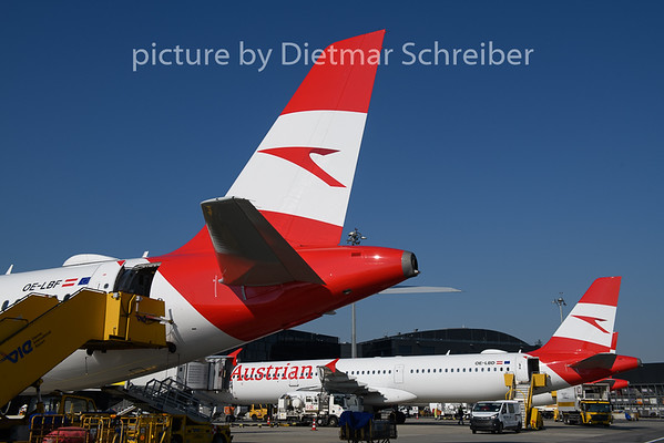 2019-04-18 OE-LBF Airbus A321 AUstrian Airlines