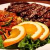 Teriyaki beef with some veggies