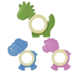Dinosaur, Elephant and Pony Eco Teethers