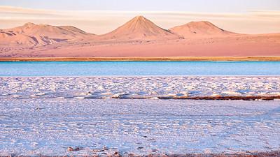 Volcan Licancabur and  Laguna Tebenquiche