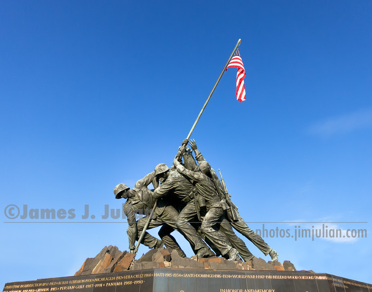 Iwo Jima Memorial Full Flag
