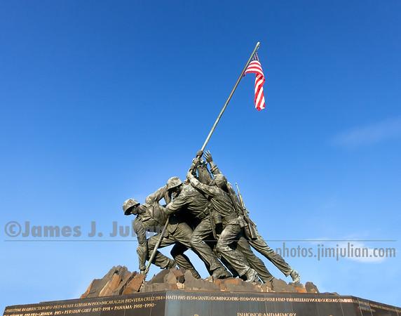 Iwo Jima Memorial Full Flag