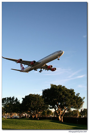 Virgin Atlantic approaching LAX