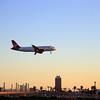 Virgin America Airliner landing at LAX
