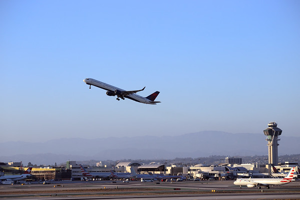 Airplane taking off at LAX