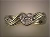 Custom platinum swirl design for setting customers heart shaped diamond by Ron Litolff