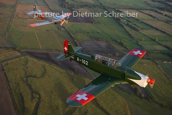 2020-09-13 D-EGAW PIlatus P2 / F-AZQQ Pilatus P3